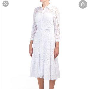 Nannette Lepore white lace shirtdress